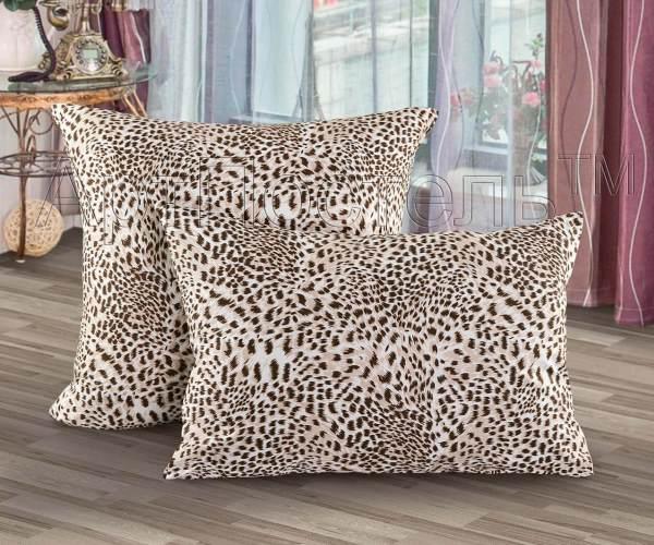 Трикотажная наволочка на молнии «Леопард»