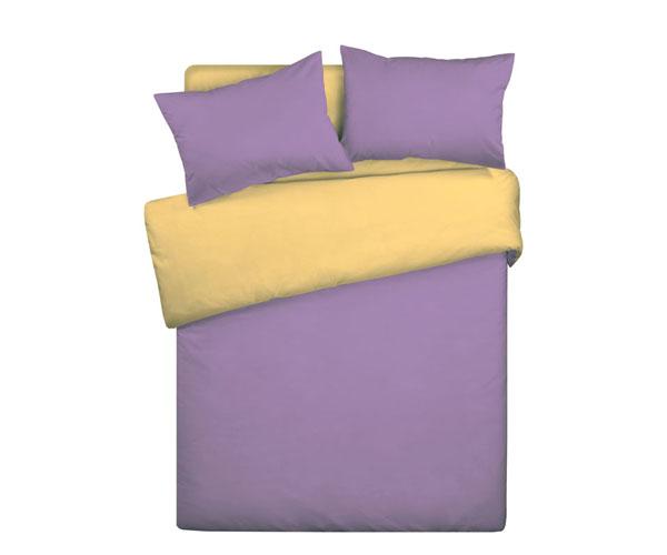 Постельное белье «WENGE» Сиренево-жёлтый