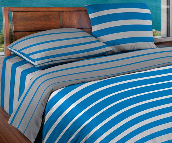 Постельное белье «WENGE» Stripe Blue