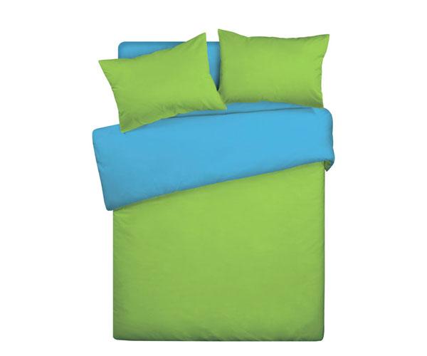 Постельное белье «WENGE» Зелёно-васильковый