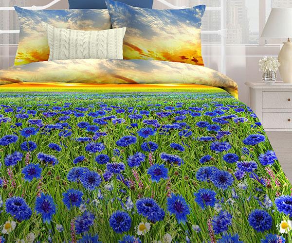 Постельное белье «Любимый дом» Васильковое поле