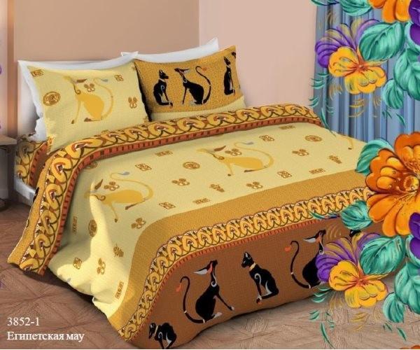 Постельное белье « Маруся» Египетская мяу