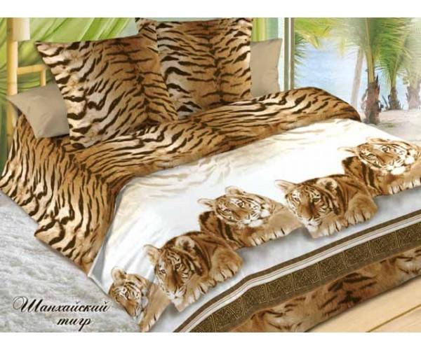 Постельное белье. Поплин «Эльф» Шанхайский тигр